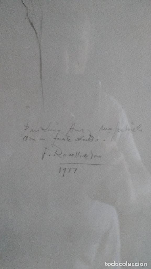 Arte: DIBUJO ORIGINAL A LAPIZ DE F.REVELLO DE TORO, DEDICADO, FIRMADO Y FECHADO EN 1981 - Foto 4 - 169458484