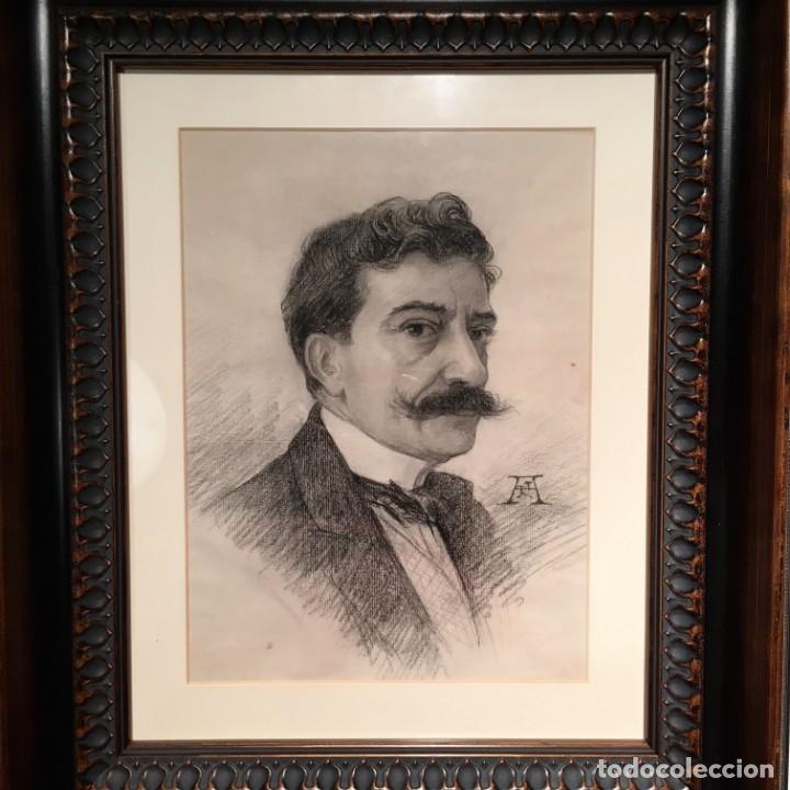 Arte: Autorretrato y cuadernillo de dibujos de José Arija Saiz (Burgos S XIX-Madrid 1920) - Foto 3 - 169460820