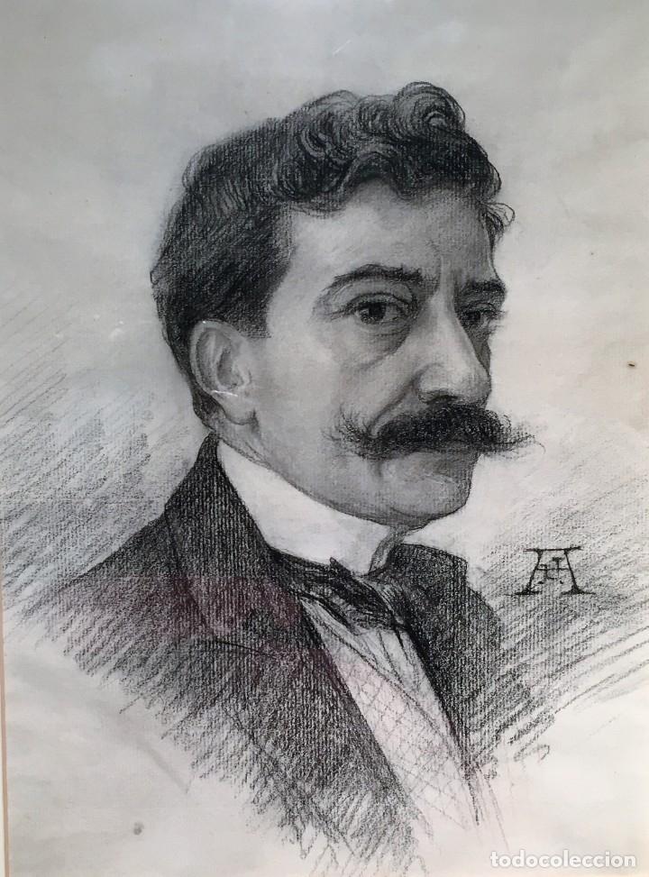Arte: Autorretrato y cuadernillo de dibujos de José Arija Saiz (Burgos S XIX-Madrid 1920) - Foto 6 - 169460820