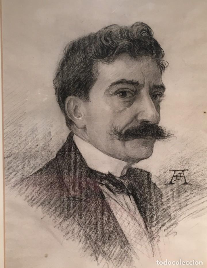 Arte: Autorretrato y cuadernillo de dibujos de José Arija Saiz (Burgos S XIX-Madrid 1920) - Foto 7 - 169460820