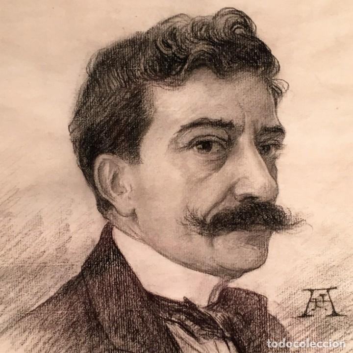 Arte: Autorretrato y cuadernillo de dibujos de José Arija Saiz (Burgos S XIX-Madrid 1920) - Foto 8 - 169460820