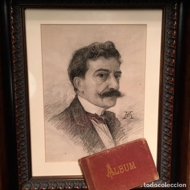 Arte: Autorretrato y cuadernillo de dibujos de José Arija Saiz (Burgos S XIX-Madrid 1920) - Foto 9 - 169460820