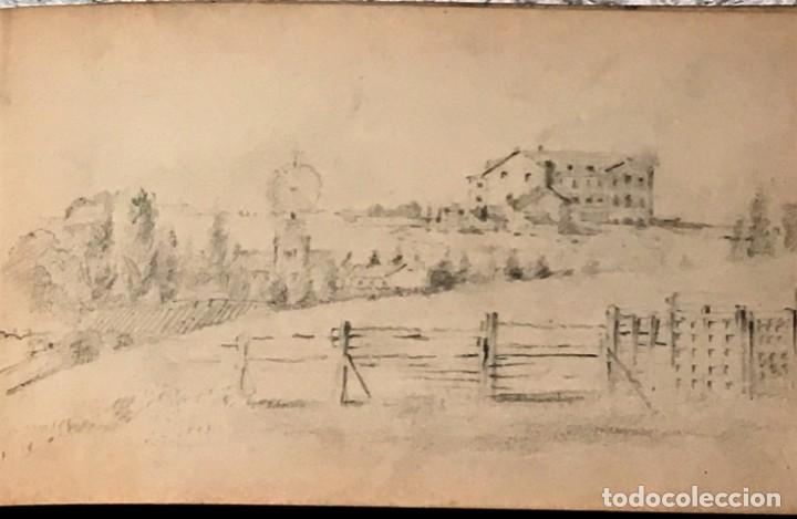 Arte: Autorretrato y cuadernillo de dibujos de José Arija Saiz (Burgos S XIX-Madrid 1920) - Foto 13 - 169460820