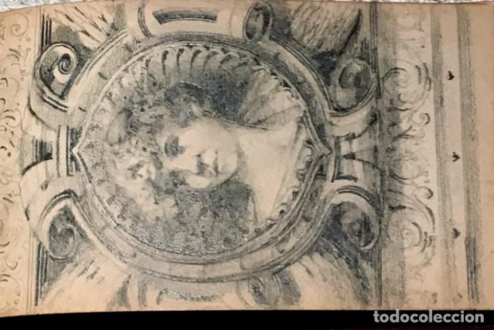 Arte: Autorretrato y cuadernillo de dibujos de José Arija Saiz (Burgos S XIX-Madrid 1920) - Foto 17 - 169460820