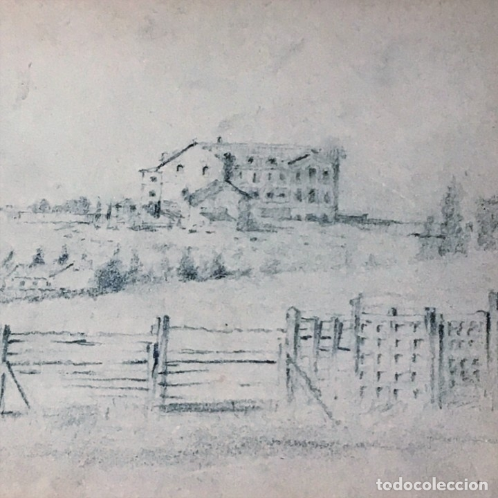Arte: Autorretrato y cuadernillo de dibujos de José Arija Saiz (Burgos S XIX-Madrid 1920) - Foto 16 - 169460820