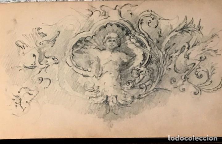 Arte: Autorretrato y cuadernillo de dibujos de José Arija Saiz (Burgos S XIX-Madrid 1920) - Foto 22 - 169460820