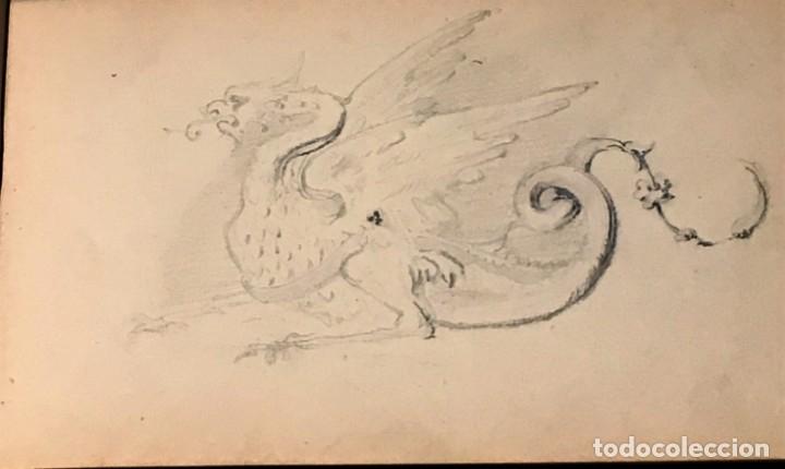 Arte: Autorretrato y cuadernillo de dibujos de José Arija Saiz (Burgos S XIX-Madrid 1920) - Foto 24 - 169460820