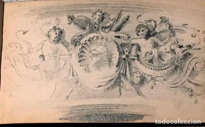 Arte: Autorretrato y cuadernillo de dibujos de José Arija Saiz (Burgos S XIX-Madrid 1920) - Foto 26 - 169460820