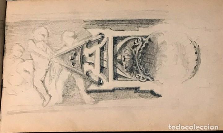 Arte: Autorretrato y cuadernillo de dibujos de José Arija Saiz (Burgos S XIX-Madrid 1920) - Foto 28 - 169460820