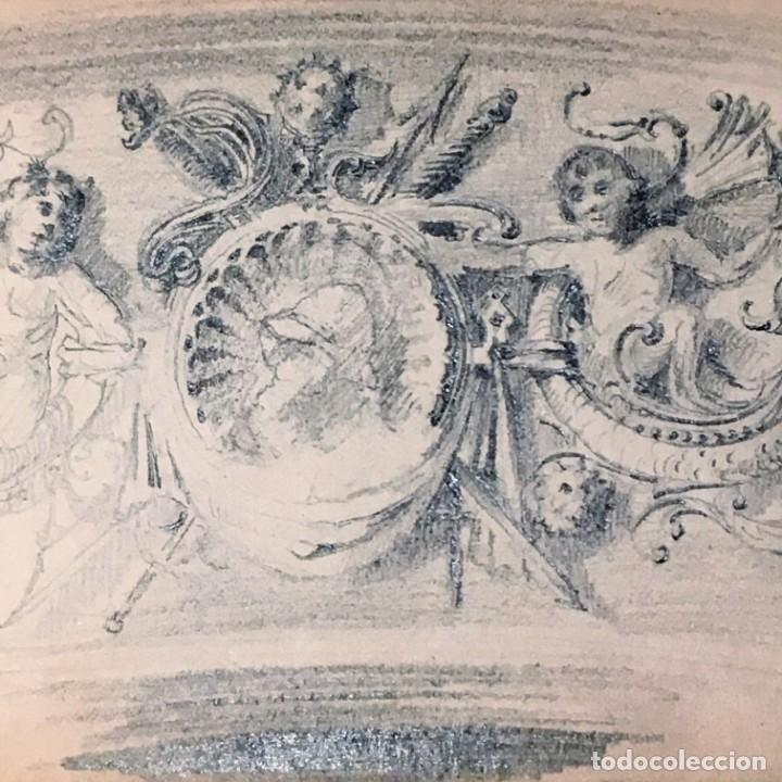 Arte: Autorretrato y cuadernillo de dibujos de José Arija Saiz (Burgos S XIX-Madrid 1920) - Foto 27 - 169460820