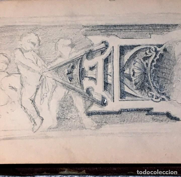 Arte: Autorretrato y cuadernillo de dibujos de José Arija Saiz (Burgos S XIX-Madrid 1920) - Foto 29 - 169460820