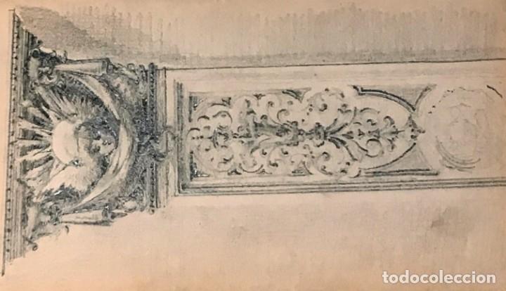 Arte: Autorretrato y cuadernillo de dibujos de José Arija Saiz (Burgos S XIX-Madrid 1920) - Foto 31 - 169460820