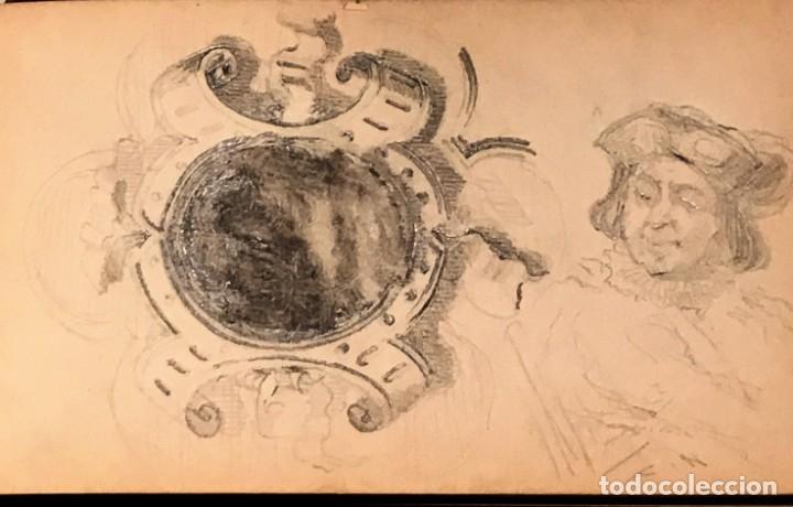 Arte: Autorretrato y cuadernillo de dibujos de José Arija Saiz (Burgos S XIX-Madrid 1920) - Foto 34 - 169460820