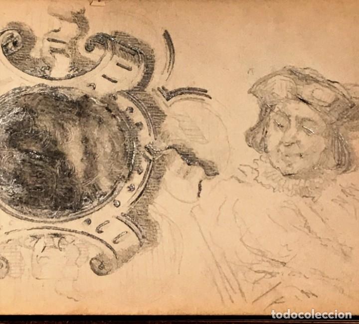 Arte: Autorretrato y cuadernillo de dibujos de José Arija Saiz (Burgos S XIX-Madrid 1920) - Foto 35 - 169460820