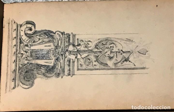 Arte: Autorretrato y cuadernillo de dibujos de José Arija Saiz (Burgos S XIX-Madrid 1920) - Foto 39 - 169460820