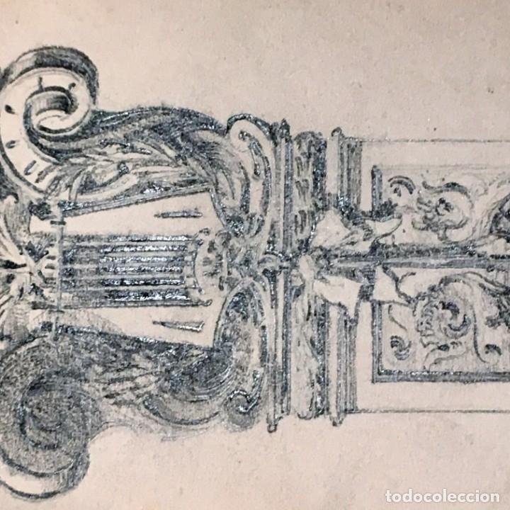 Arte: Autorretrato y cuadernillo de dibujos de José Arija Saiz (Burgos S XIX-Madrid 1920) - Foto 40 - 169460820