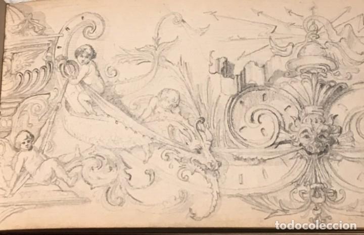 Arte: Autorretrato y cuadernillo de dibujos de José Arija Saiz (Burgos S XIX-Madrid 1920) - Foto 44 - 169460820