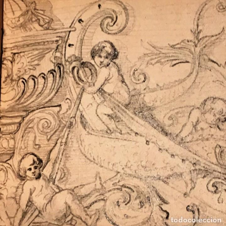 Arte: Autorretrato y cuadernillo de dibujos de José Arija Saiz (Burgos S XIX-Madrid 1920) - Foto 45 - 169460820