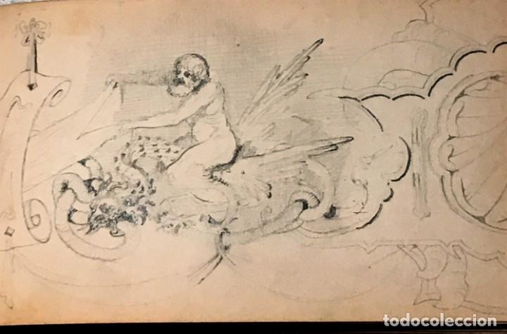 Arte: Autorretrato y cuadernillo de dibujos de José Arija Saiz (Burgos S XIX-Madrid 1920) - Foto 47 - 169460820