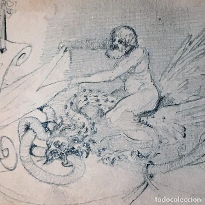 Arte: Autorretrato y cuadernillo de dibujos de José Arija Saiz (Burgos S XIX-Madrid 1920) - Foto 48 - 169460820