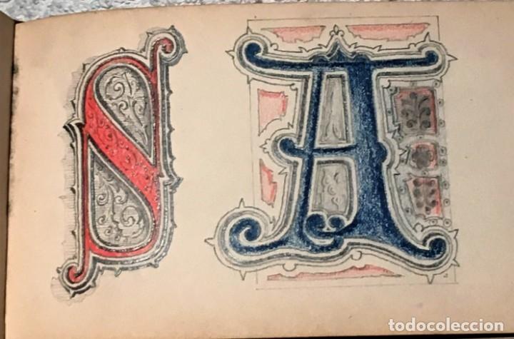 Arte: Autorretrato y cuadernillo de dibujos de José Arija Saiz (Burgos S XIX-Madrid 1920) - Foto 50 - 169460820