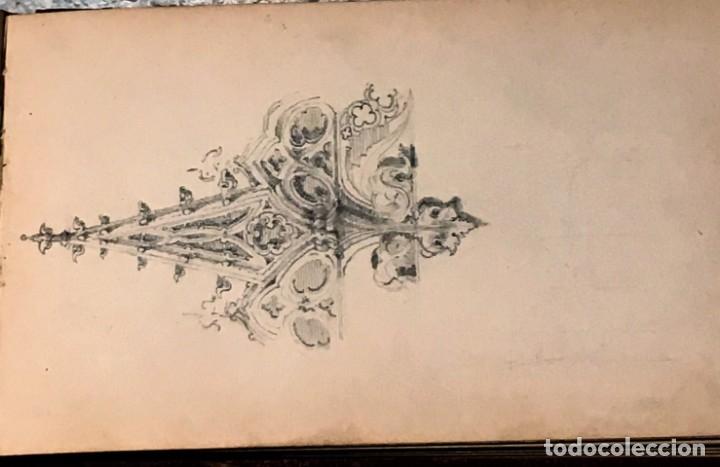 Arte: Autorretrato y cuadernillo de dibujos de José Arija Saiz (Burgos S XIX-Madrid 1920) - Foto 52 - 169460820