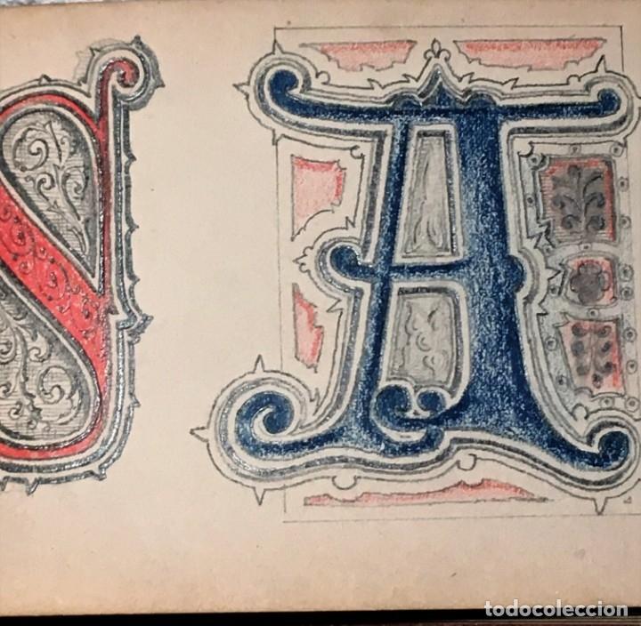 Arte: Autorretrato y cuadernillo de dibujos de José Arija Saiz (Burgos S XIX-Madrid 1920) - Foto 51 - 169460820