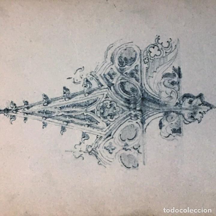 Arte: Autorretrato y cuadernillo de dibujos de José Arija Saiz (Burgos S XIX-Madrid 1920) - Foto 53 - 169460820