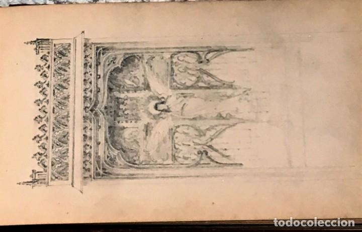 Arte: Autorretrato y cuadernillo de dibujos de José Arija Saiz (Burgos S XIX-Madrid 1920) - Foto 56 - 169460820