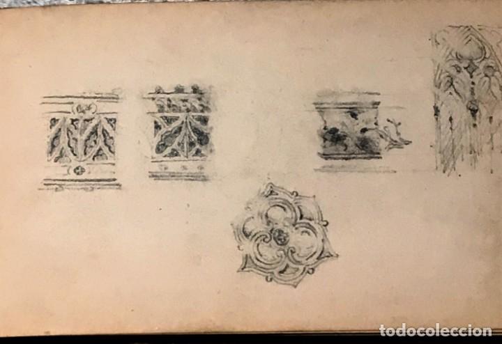 Arte: Autorretrato y cuadernillo de dibujos de José Arija Saiz (Burgos S XIX-Madrid 1920) - Foto 58 - 169460820