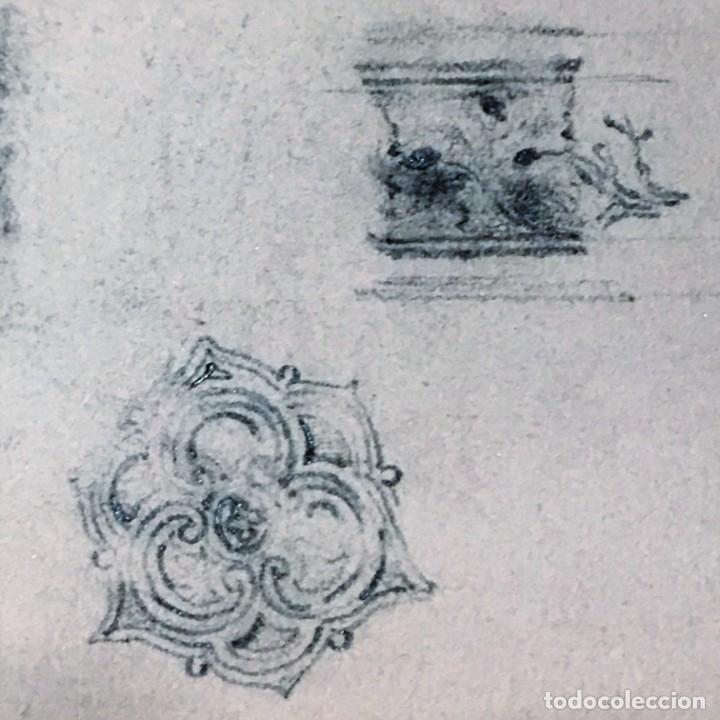 Arte: Autorretrato y cuadernillo de dibujos de José Arija Saiz (Burgos S XIX-Madrid 1920) - Foto 60 - 169460820