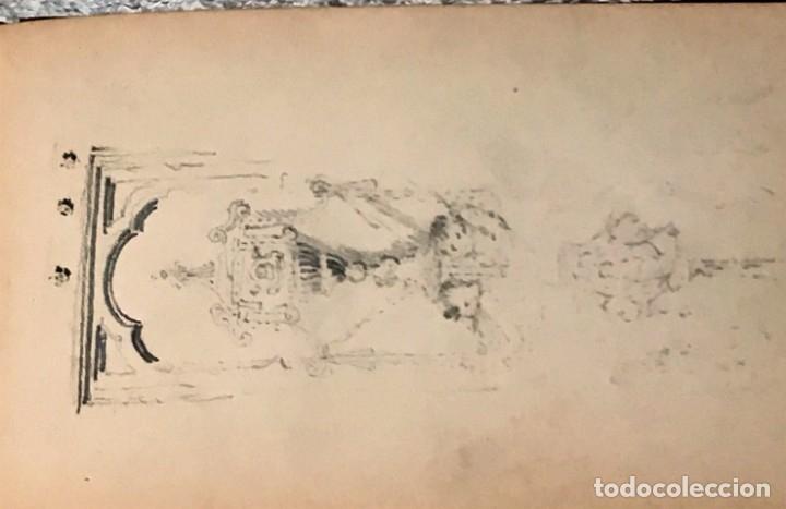 Arte: Autorretrato y cuadernillo de dibujos de José Arija Saiz (Burgos S XIX-Madrid 1920) - Foto 62 - 169460820