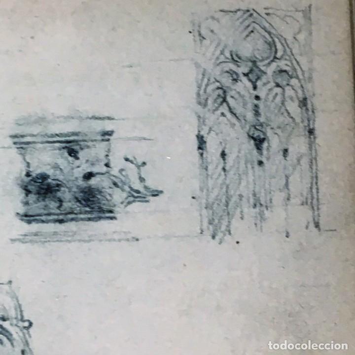 Arte: Autorretrato y cuadernillo de dibujos de José Arija Saiz (Burgos S XIX-Madrid 1920) - Foto 61 - 169460820