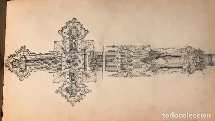 Arte: Autorretrato y cuadernillo de dibujos de José Arija Saiz (Burgos S XIX-Madrid 1920) - Foto 64 - 169460820