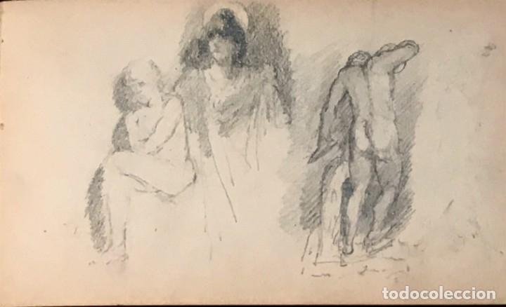 Arte: Autorretrato y cuadernillo de dibujos de José Arija Saiz (Burgos S XIX-Madrid 1920) - Foto 67 - 169460820