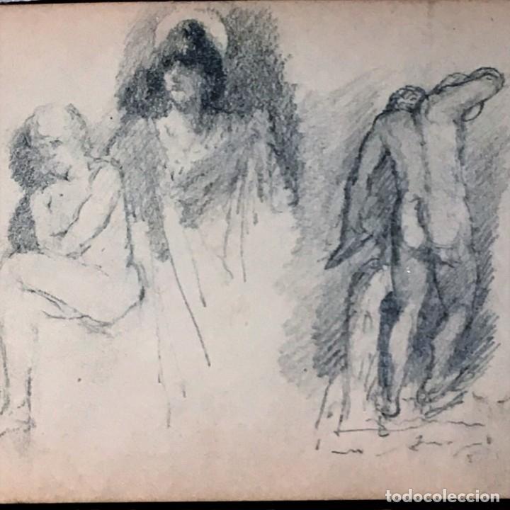 Arte: Autorretrato y cuadernillo de dibujos de José Arija Saiz (Burgos S XIX-Madrid 1920) - Foto 68 - 169460820