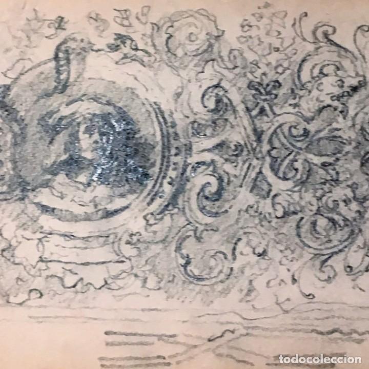 Arte: Autorretrato y cuadernillo de dibujos de José Arija Saiz (Burgos S XIX-Madrid 1920) - Foto 70 - 169460820
