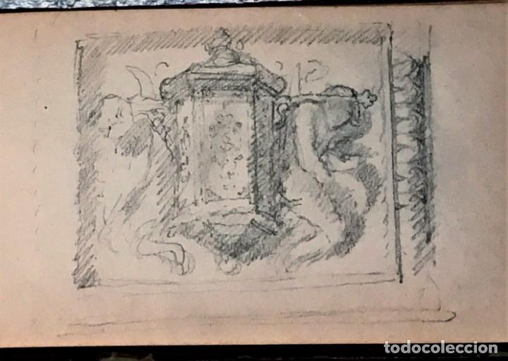 Arte: Autorretrato y cuadernillo de dibujos de José Arija Saiz (Burgos S XIX-Madrid 1920) - Foto 72 - 169460820