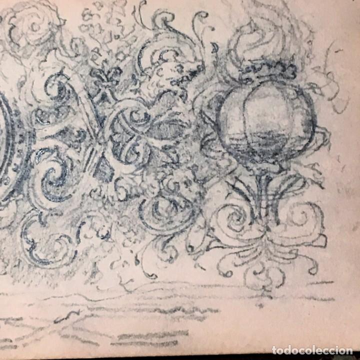 Arte: Autorretrato y cuadernillo de dibujos de José Arija Saiz (Burgos S XIX-Madrid 1920) - Foto 71 - 169460820