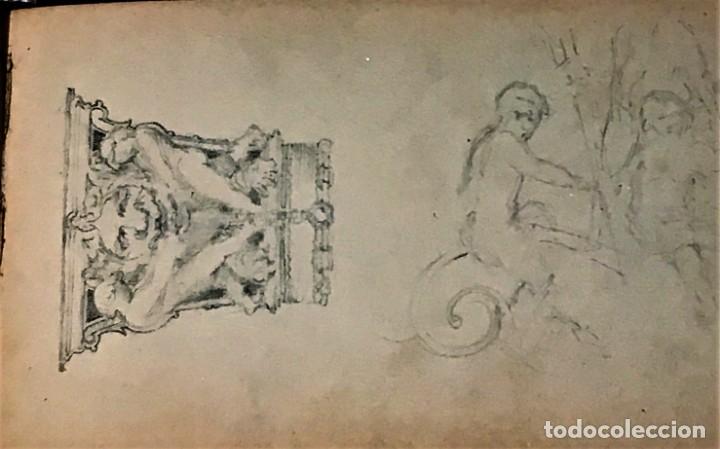 Arte: Autorretrato y cuadernillo de dibujos de José Arija Saiz (Burgos S XIX-Madrid 1920) - Foto 75 - 169460820