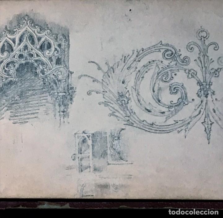 Arte: Autorretrato y cuadernillo de dibujos de José Arija Saiz (Burgos S XIX-Madrid 1920) - Foto 74 - 169460820