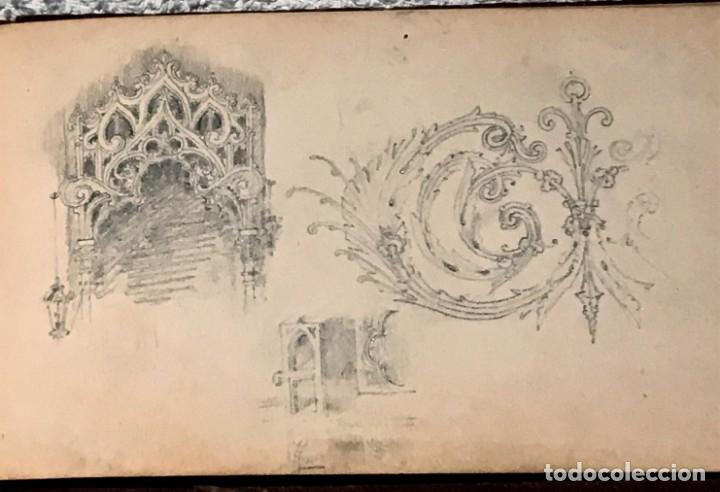 Arte: Autorretrato y cuadernillo de dibujos de José Arija Saiz (Burgos S XIX-Madrid 1920) - Foto 73 - 169460820