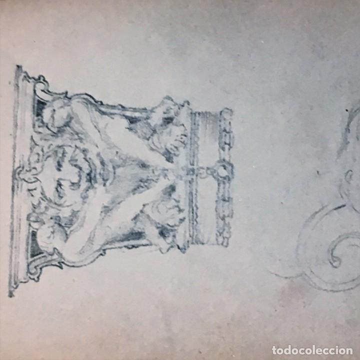 Arte: Autorretrato y cuadernillo de dibujos de José Arija Saiz (Burgos S XIX-Madrid 1920) - Foto 76 - 169460820