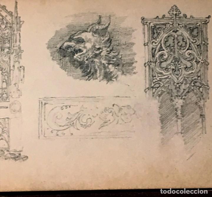Arte: Autorretrato y cuadernillo de dibujos de José Arija Saiz (Burgos S XIX-Madrid 1920) - Foto 78 - 169460820