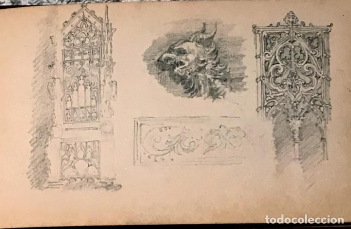 Arte: Autorretrato y cuadernillo de dibujos de José Arija Saiz (Burgos S XIX-Madrid 1920) - Foto 77 - 169460820