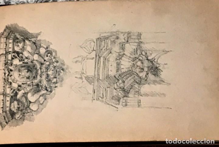 Arte: Autorretrato y cuadernillo de dibujos de José Arija Saiz (Burgos S XIX-Madrid 1920) - Foto 79 - 169460820