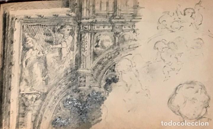 Arte: Autorretrato y cuadernillo de dibujos de José Arija Saiz (Burgos S XIX-Madrid 1920) - Foto 82 - 169460820