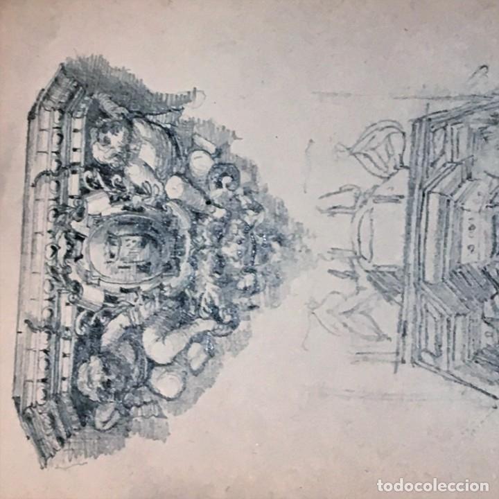 Arte: Autorretrato y cuadernillo de dibujos de José Arija Saiz (Burgos S XIX-Madrid 1920) - Foto 80 - 169460820