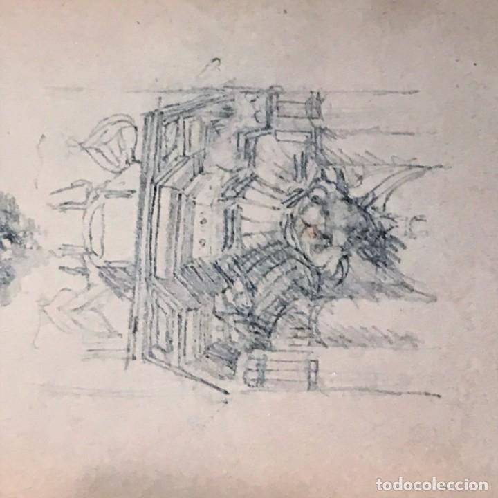 Arte: Autorretrato y cuadernillo de dibujos de José Arija Saiz (Burgos S XIX-Madrid 1920) - Foto 81 - 169460820