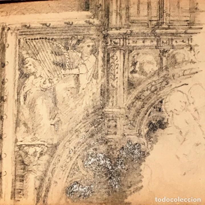 Arte: Autorretrato y cuadernillo de dibujos de José Arija Saiz (Burgos S XIX-Madrid 1920) - Foto 83 - 169460820